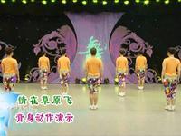 刘荣舞蹈  情在草原飞 背面展示 正背面演示及口令分解动作教学和背面演