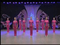 刘荣舞蹈  红红的中国 表演 原创附正背面教学口令分解动作演示