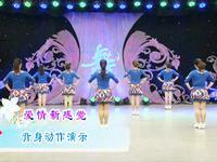 刘荣舞蹈  爱情新感觉 背面展示 口令分解动作教学演示