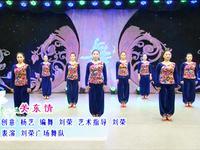 刘荣舞蹈 关东情 表演 正背面演示及慢速口令教学
