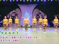 刘荣舞蹈 情在草原飞 表演 正背面演示及口令分解动作教学