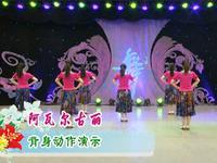 応子廣場舞  阿瓦爾古麗 背面展示 原創附正背面教學口令分解動作演示