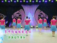刘荣舞蹈 梦中的姑娘我爱你 背面展示附正背面口令分解教学演示