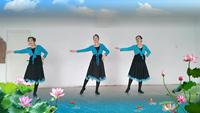 呼和浩特市新華廣場玉兔快樂舞隊《夢中的媽媽》表演團隊版附正背面口令分解教學演示