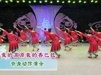 春英舞蹈 我的高原我的香巴拉 背面展示 正背面演示及慢速口令教学