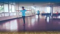 贛州微馬章貢隊輕舞飛揚紅歌連跳表演個人版 正背面演示及口令分解動作教學和背面演