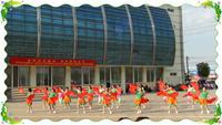 鹽城上岡春晨健身隊山里人樂的好瀟灑表演團隊版 正背面口令分解動作教學演示