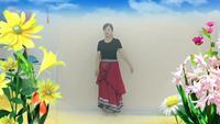 茶城舞蹈队阳光蓝色天梦表演个人版 完整版演示及口令分解动作教学