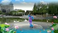 月光情舞队摇一条小船游湖州表演个人版 正反面演示及分解动作教学