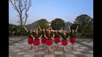 四川省射洪縣鳳之美舞蹈隊紅歌表演團隊版 正背面口令分解動作教學演示