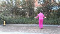 泰山臨沂大辮子編舞:笑春風《紅歌連跳》表演個人版 原創附正背面教學口令分解動作演示