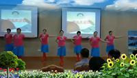 德州嘉诚东郡舞蹈队蓝色天梦表演团队版 经典正背面演示及口令分解动作教学