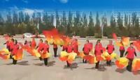 中心广场建国队参加9日21号活动表演的《祖国你好》表演团队版 正背面演示及口令分解动作教学和背面演