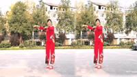 湖南邵陽白馬女子健身隊蕎麥花表演個人版 正背面演示及口令分解動作教學和背面演