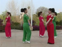 瑞金丽萍原创广场舞 爱你情歌 双人对跳恰恰健身舞 附分解动作