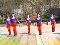 红乔开心广场舞 凤凰传奇健身舞自由自在