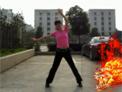 浙江温州绿蕾丝广场舞 火火的爱 正背面演示