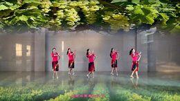 临川玲珑雨韵舞队《阿依古丽》编舞艺莞儿 团队正背面演示
