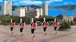 海渊佟姐广场舞《广场舞跳起来》编舞重庆叶子 正背面演示