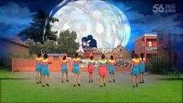 山西曲沃高陽廣場舞《花橋流水》編舞葉子 團隊正背面演示