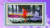 謝春燕廣場舞《絨花》原創古典形體舞 正背面教學演示