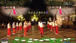 安庆艳丽广场舞《映山红》原创舞蹈 团队正背面演示