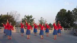 安徽枞阳月亮姐姐广场舞《高原反应》编舞凤凰六哥 团队正背面演示