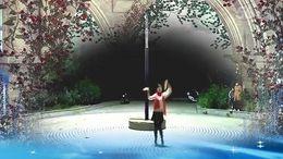 范岗秋之韵广场舞《多情的月光》原创舞蹈 正背面演示