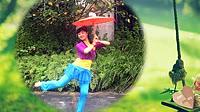 謝春燕廣場舞《煙花三月》原創傘舞 正背面演示