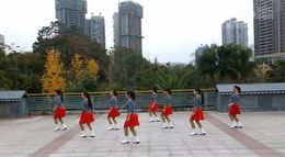 俏木蘭排舞《愛上一個怪物》原創舞蹈 團隊正背面演示