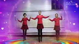 山西曲沃高陽廣場舞《美美噠》編舞心隨 團隊正背面演示