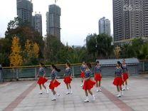 俏木蘭廣場舞《魅力恰恰》原創排舞 團隊正背面演示
