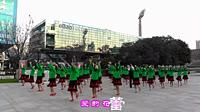 红舞鞋广场舞《那里的山那里的水》原创舞蹈 团队正背面演示