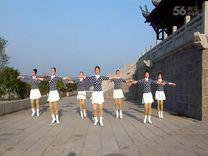 俏木蘭廣場舞《意大利桑巴》原創舞蹈 團隊正背面演示