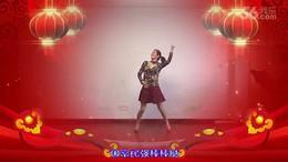 绍兴名人广场舞《猴年大吉棒棒哒》编舞四大天后 正背面演示