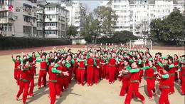 応子春丽广场舞《踏着一路阳光》2016开年舞团队演示  附正背面口令分解教学演示