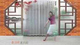 黄骅恋雪广场舞《花弦月》原创舞蹈 正背面演示