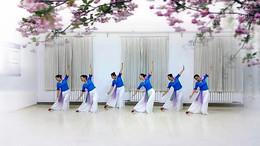 滨海歆愿舞蹈《月落泉》原创舞蹈 团队正背面演示