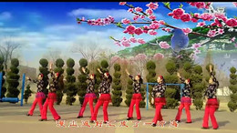 雨露广场舞《山花朵朵开》编舞清秋 正背面演示