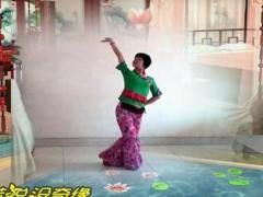 谢春燕广场舞《红楼梦》原创舞蹈 正背面演示