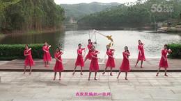 新東方廣場舞《踏出一路陽光》編舞応子 團隊正背面演示