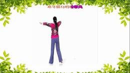河北七彩之光舞蹈队《映山红》编舞刘荣 正背面演示
