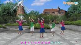 夜空广场舞《爱你一生》原创舞蹈 附正背面口令分解教学演示