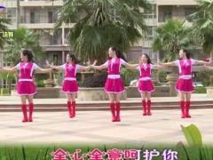 杨丽萍广场舞《一直爱着你》原创大众韵律广场舞 附正背面口令分解教学演示