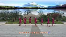 桃花垠廣場舞《冰雪天堂》原創舞蹈 團隊正背面演示