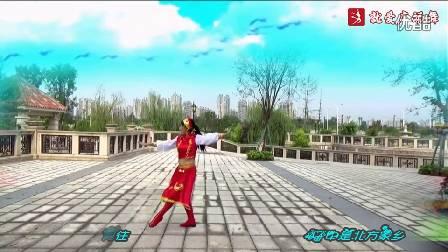 謝春燕廣場舞《鴻雁》原創舞蹈 正背面演示