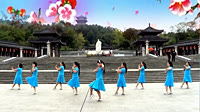 謝春燕廣場舞《語花蝶》原創舞蹈 團隊正背面演示