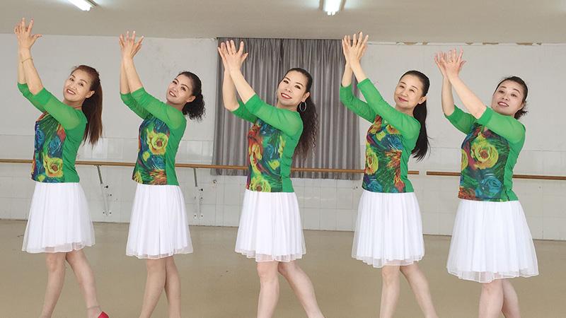 刘荣广场舞《木棉飞花》原创舞蹈 附正背面口令分解教学演示