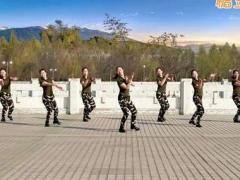 云裳馨悅廣場舞《女兵走在大街上》編舞肖肖 附正背面口令分解教學演示