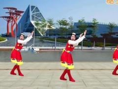 游城广场舞《水蓝蓝》原创草原风舞蹈 附正背面口令分解教学演示